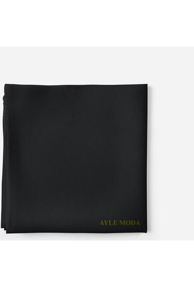 Sedef Siyah Şifon Şal Sedef 72x200
