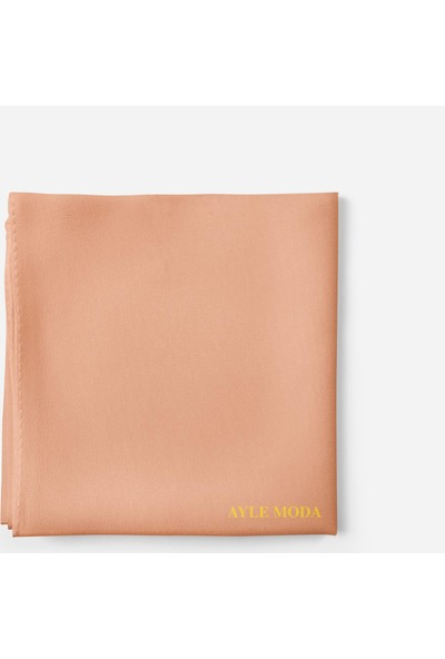 Sedef Mercan Rengi Şifon Şal Sedef 72x200