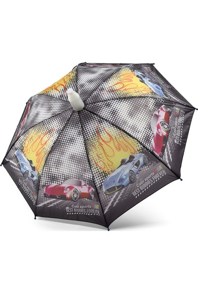 Almera Pvc Kılıflı Erkek Çocuk Şemsiyesi - Cars Siyah