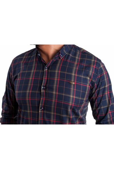 Adirondack Çizgili Lacivert Renk Erkek Gömlek