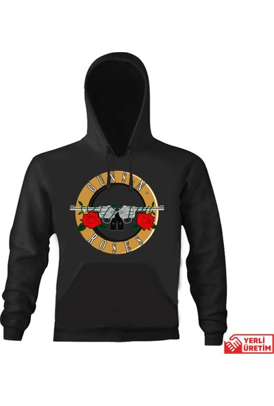 Art T-Shirt Guns N Roses Kapşonlu Sweatshirt