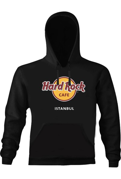 Art T-Shirt Hard Rock Cafe İstanbul Kapşonlu Sweatshirt