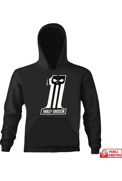 Art T-Shirt Harley Number1 Kapşonlu Sweatshirt