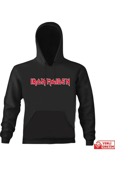 Art T-Shirt Iron Maiden Logo Kapşonlu Sweatshirt