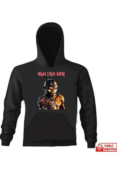 Art T-Shirt Iron Maiden The Book Of Souls Kapşonlu Sweatshirt