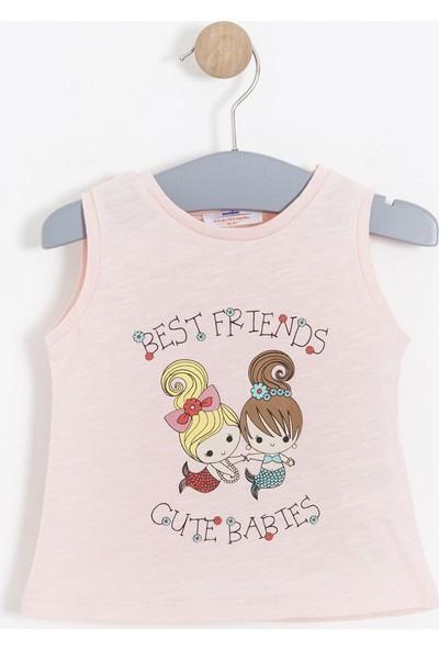 Soobe Kız Bebek Kolsuz T-shirt Somon
