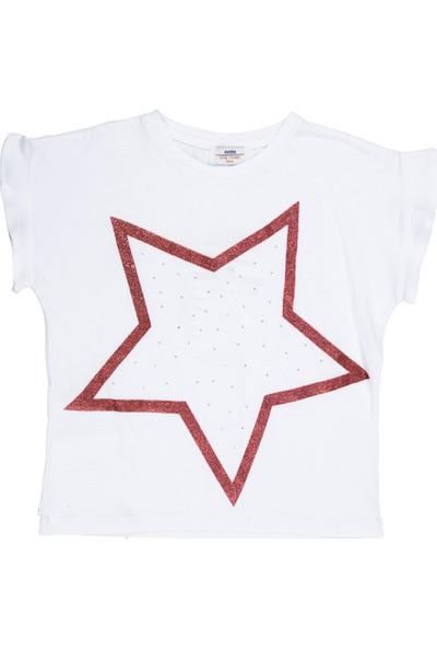 Soobe Kız Çocuk T-shirt Beyaz