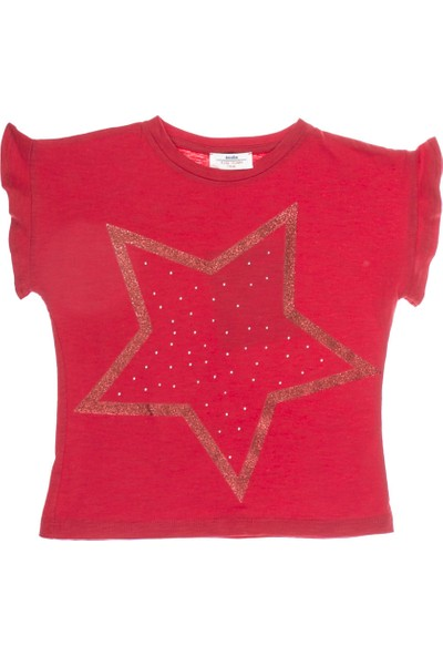 Soobe Kız Çocuk T-shirt Kırmızı
