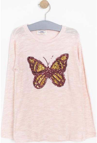 Soobe Kız Çocuk Uzun Kol T-shirt Pembe