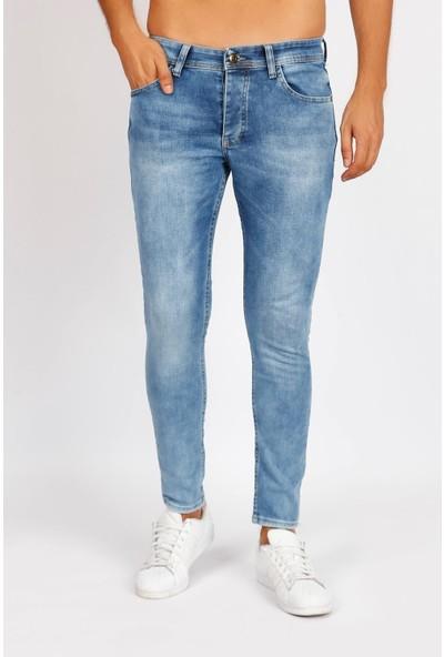Raysblue Orta Buz Mavi Likralı Kot Pantolon