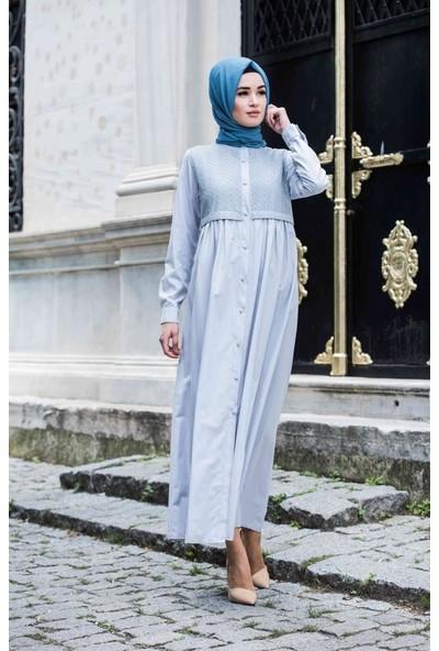 Abacı Gri Elbise 11817-R48