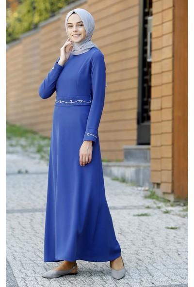 Abacı İndigo Elbise 12428-P74