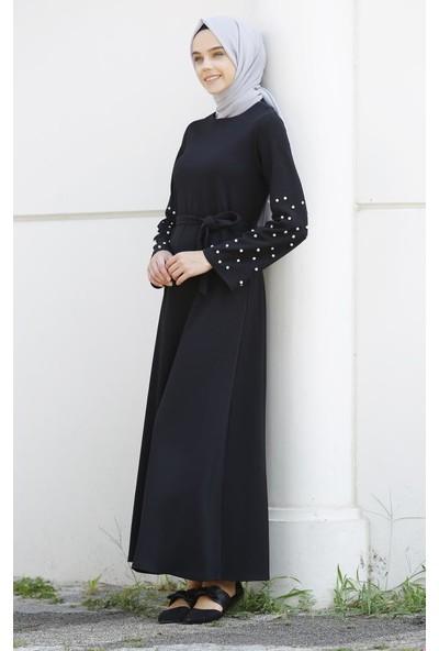 Abacı Siyah Elbise 12455-A134