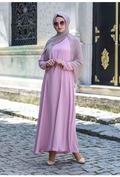 Abacı Pudra Mevsimlik Elbise 11643-Y20