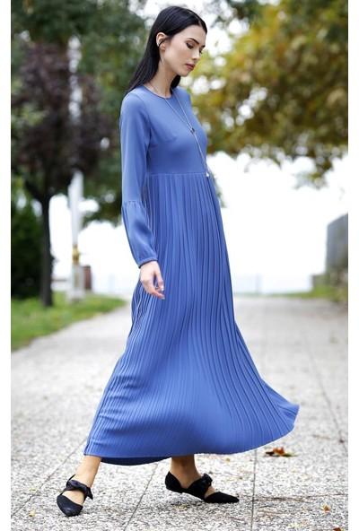 Abacı Mavi Elbise 12516-A135