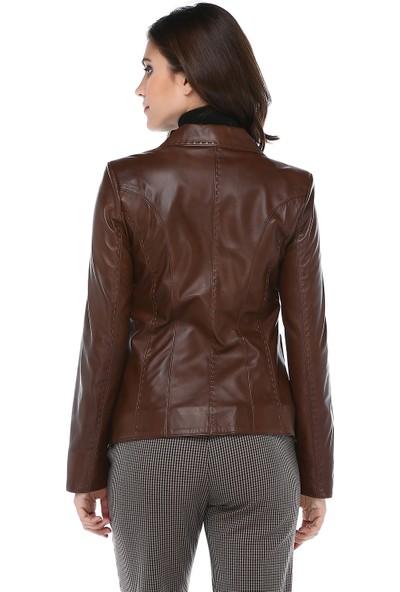 Dericlub Yb-358 Hakiki Kuzu Derisi Kadın Ceket