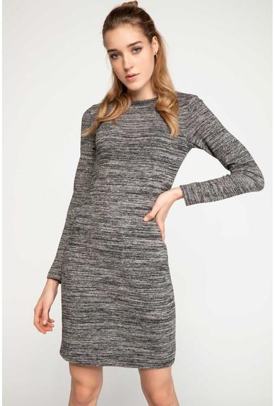 DeFacto Slim Fit Uzun Elbise