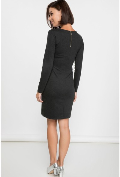 DeFacto Uzun Kollu Basic Elbise
