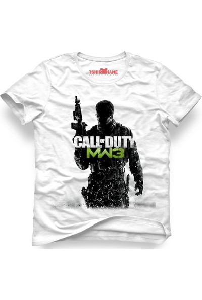 Tshirthane Call Of Duty Beyaz Erkek T-Shirt