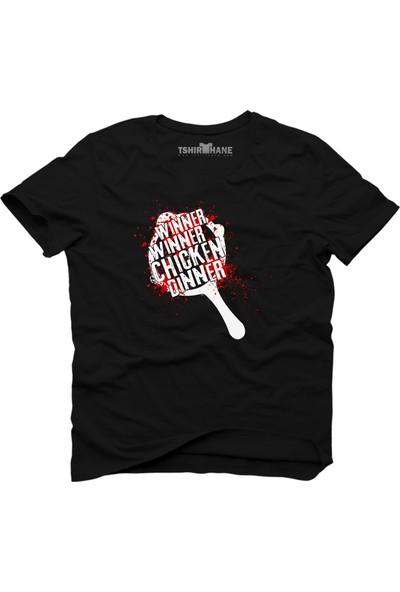 Tshirthane Pubg Pan Tava Blood Siyah Erkek T-Shirt