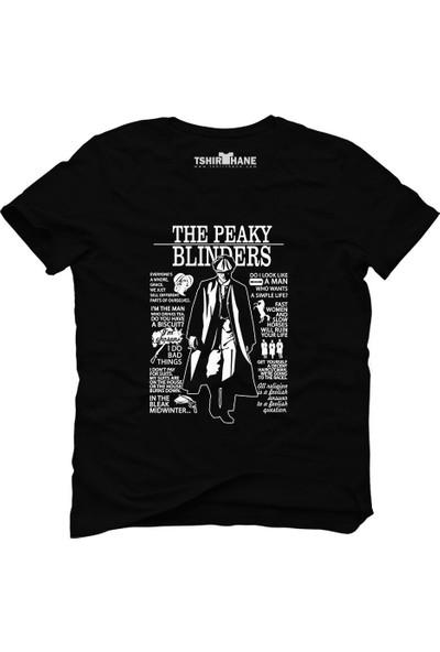 Tshirthane Peaky Blinders Tommy Shelby Everyone Siyah Erkek T-Shirt