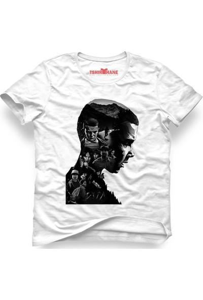 Tshirthane Stranger Things 11 Eleven Millie Bobby Brown Beyaz Erkek T-Shirt