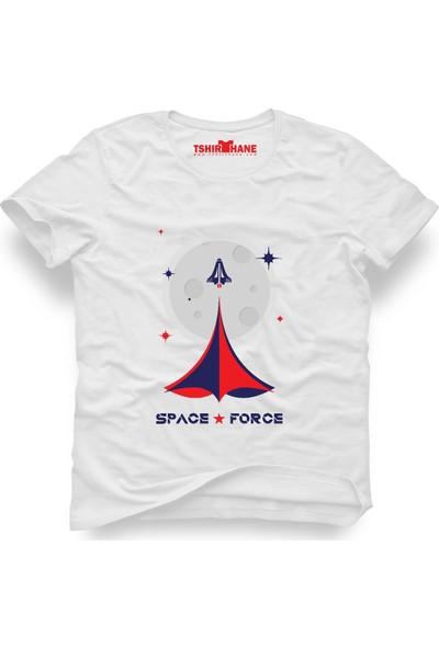 Tshirthane Nasa Mars Uzay Beyaz Erkek T-Shirt