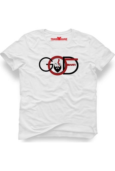 Tshirthane God Of War Beyaz Erkek T-Shirt