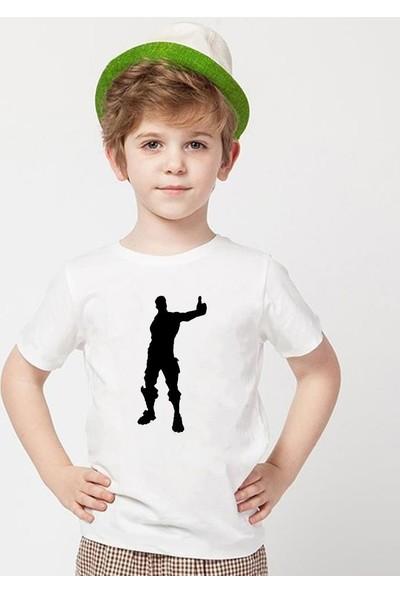 Tshirthane Fortnite Beyaz Erkek T-Shirt
