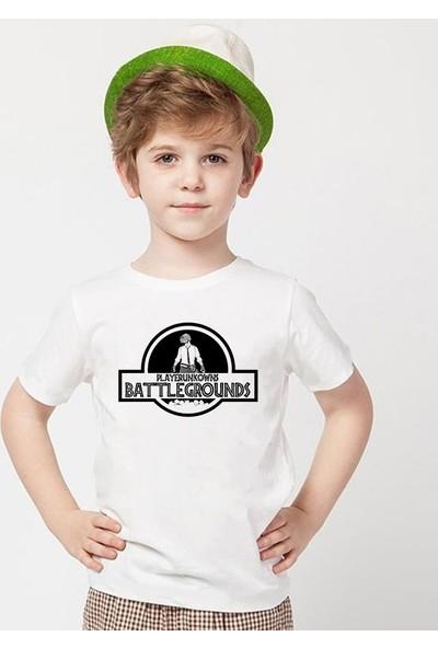 Tshirthane Pubg Beyaz Erkek T-Shirt