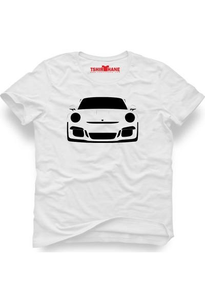 Tshirthane Porsche Beyaz Erkek T-Shirt