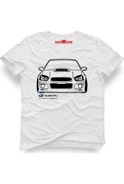 Tshirthane Subaru Beyaz Erkek T-Shirt