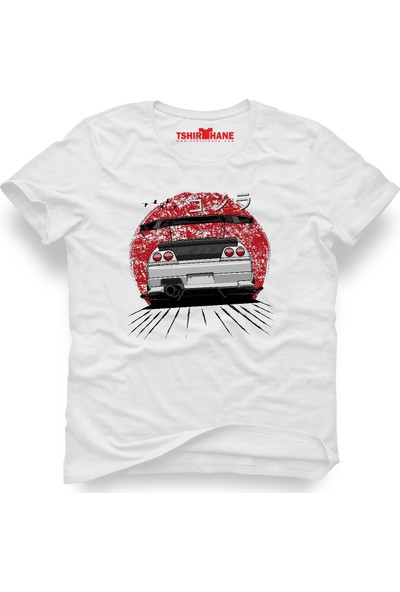 Tshirthane Nissan Skyline Beyaz Erkek T-Shirt