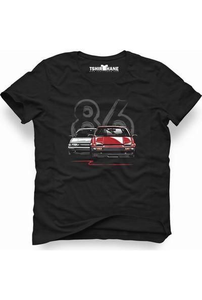 Tshirthane Vw Volkswagen 1986 86 Siyah Erkek T-Shirt