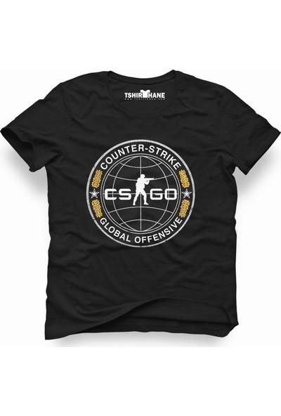 Tshirthane Csgo Cs Go Global Offensive Siyah Erkek T-Shirt