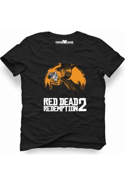 Tshirthane Red Dead Redemption 2 Siyah Erkek T-Shirt