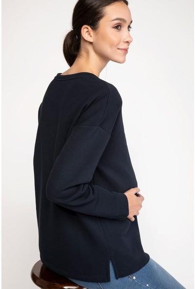 DeFacto Payet İşleme Detaylı Relax Fit Hamile Sweatshirt