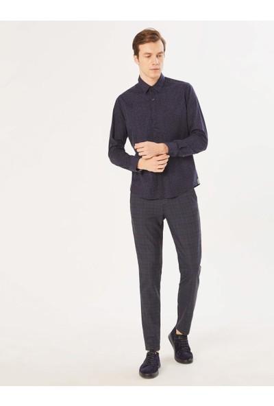 Xint Erkek Slim Fit Baskılı Gömlek