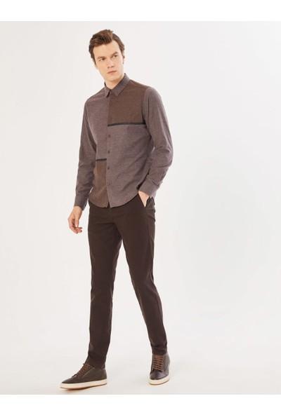 Xint Erkek V Cep Slim Fit Chino Pantolon
