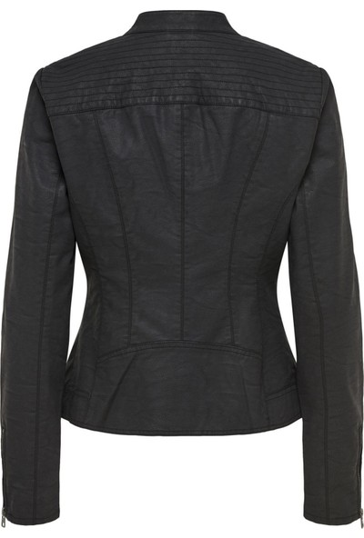 Only Deri Ceket Onlsaga Faux Leather Biker 15156494-BLK