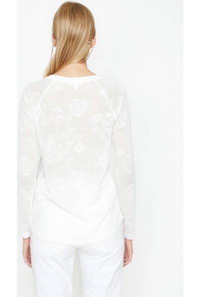 Koton Desen Detaylı Sweatshirt