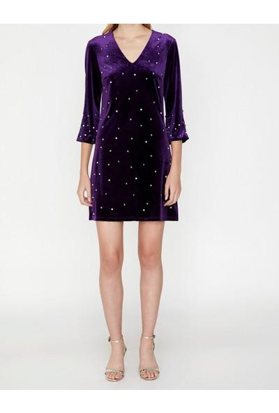 Koton Boncuk Detaylı Elbise