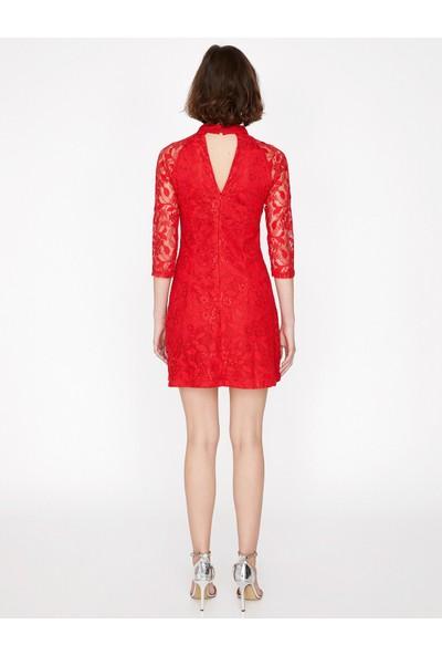 Koton Dantel Detaylı Elbise