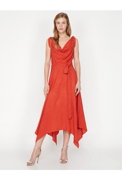 Koton V Yaka Elbise