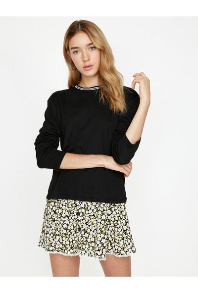 Koton Yaka Detaylı Sweatshirt