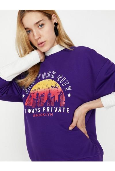 Koton Yazili Baskılı Sweatshirt