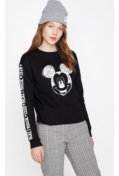 Koton Mickey Mouse Baskılı Sweatshirt