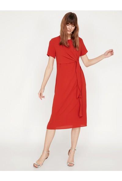 Koton Beli Bağlamalı Elbise