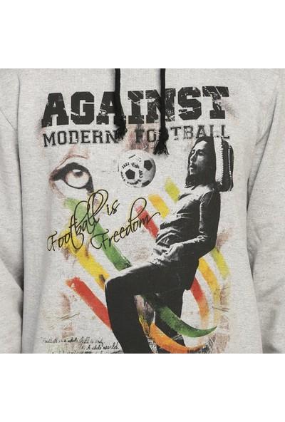 Bant Giyim Bob Marley Gri Kapüşonlu Erkek Sweatshirt Hoodie