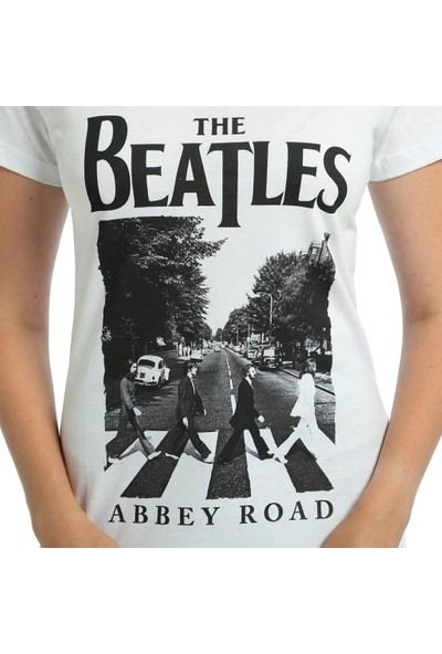 Bant Giyim Beatles Beyaz Kadın T-Shirt